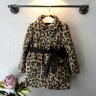 2059 Boutique High Quality Full Lined Leopard Coat Flare Waist Line Stylish 7-8T