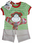 Baby Boys Shorts and T-shirt Set Outfit Cheeky Monkey Summer Set 0-3M 3-6M 6-12M