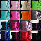 Velvet 4 Way Stretch Spandex fabric material Q559 various colors FREE P&P