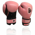 Prime Rex Leather Boxing Gloves Punch Bag Muay Thai Fight Grappling Pink 6OZ,8OZ