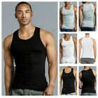 Lot of 3 Mens Tank Top 100% Cotton A-Shirt Undershirt Wife Beater Ribbed S~3XL image