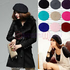 Fashion Womens Lady Wool Warm French Classic Beret Beanie Slouch Hat Cap Tam
