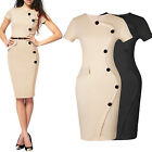 Womens Ladies Business Pencil Bodycon Formal Evening Cocktail Party Dresses
