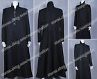 The Matrix Cosplay Neo Costume Black Trench Coat Overcoat Well Designed Hot Sale