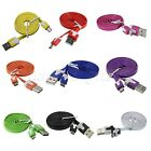 Micro USB 2.0 Data Sync Charger Flat Noodle Cable Cord for Samsung Nokia Sony
