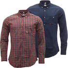 Mens Threadbare Long Sleeve Checked Shirt New S M L XL