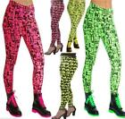 NEON LEGGINGS  80's FANCY DRESS TUTU PARTY HALLOWEEN
