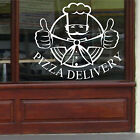PIZZA DELIVERY SIGN - Wall Art Sticker Transfer Vinyl Transfer Food Cafe Shop