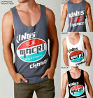 Mens KINGS & CHAMPION Super Tank LOOSE FIT Singlet Festival Style Gym Casual NEW
