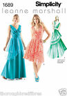 Simplicity 1689 Sewing Pattern Overlaid Long Prom Evening Dress Ladies Size 4-20