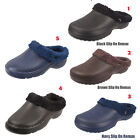 Mens Fur Lined Cosy Clogs Slip On Winter Sandals Garden Shoes Slippers UK 6-12