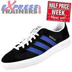 Adidas Originals Mens Gazelle Indoor Rare Classic Trainers Black *AUTHENTIC*