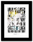 ELTON JOHN ❤ Tiny Dancer #3 - song lyrics typography poster art print - A1 A2 A3