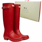 *NEW* Hunter Original Tall Gloss Military Red Wellington Boots Wellies/Wellys