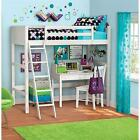 Twin Size Loft Bunk Bed with Ladder over Desk Kids Wood Furniture Bedroom NEW