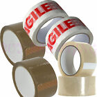 CLEAR - BROWN - FRAGILE - STRONG PACKAGING PARCEL CARTON SEALING TAPE 50mm x 66m