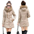 New Winter Woman Faux Fur Collar Cotton Wapped Coat Outwear Jacket Cotton-Padded