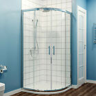 Quadrant Shower Enclosure Easy Clean Safety Glass Screen Door & Tray Free Waste