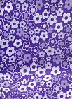 FUNKY FLORAL LARGE PURPLE FLOWERS POLYCOTTON FABRIC CUT OFF THE ROLL