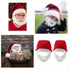 New Red&white Kids Adult Santa Claus Hats With Beard Xmas Party Cap Gifts Hat Z
