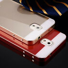 Acrylic Glass Back Cover Aluminum Metal Bumper Case For Samsung Galaxy S5 NOTE 4
