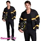Mens Adult Fireman Fire Fighter Uniform Fancy Dress Costume Halloween Outfit
