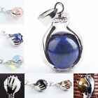 """Stone Gemstone """"You Are The Apple Of My Eyes"""" Ball Bead Pendant Charms Jewelry"""