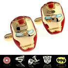 Men Dress Wedding Party Groom Shirt Square DC Marvel Super Hero CuffLinks CSUG