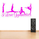 GYMNASTIC WALL ART STICKER GIRLS SPORT BEDROOM TRANSFER VINYL DANCE GIFT