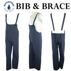 Mens Bib Brace Waterproof Dungarees Work Wear Coverall Safety Workwear Suit New