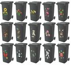 Decorative Wheelie Bin Stickers Self Adhesive Wheely Dustbin House Numbers Cover