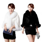 Winter Woman Faux Fox Fur Cape Coat Short Faux Rabbit Fur Cloak Jackets Outwear