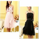 Girls Party Dress Jnr Bridesmaid Wedding Girl Dress Size 10 to 14, Black or Pink