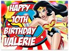 Wonder Woman Icing Birthday Edible Image Cake Topper Personalized Frosting Sheet