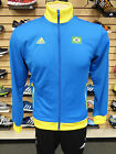 NEW ADIDAS Brazil Men's Track Top - Yellow/Blue;  G77791