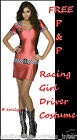 RACER / FORMULA1/ STOCK CAR DRIVER LADIES FANCY DRESS