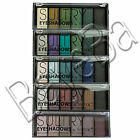 Technic Sultry Eyeshadow Eye Shadow Shadows Palette Set - Grey Green Brown Blue