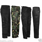 NEW MENS ADULTS WORK WEAR TROUSER COMBAT STITCHED BOTTOMS BELT LOOPS ARMY PANTS