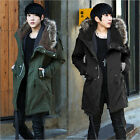 Winter Men Warm Thick Long Hooded Army Fur Collar Military Cotton Parka Coat