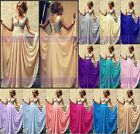 2015 Floor length Bridesmaid Dress Formal Evening Party Ball Gown Prom Size 6+16