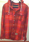 mens thick flannel shirt jacket with hood for winter by Oneill export surplus