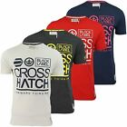 Crosshatch Mens Crew Neck T-Shirt 'Large Go' Short Sleeved