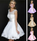 2015 Charming Knee Length Ball Party Prom Bridesmaid Wedding Dress Size 6++16