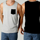 Men's SILENT THEORY Button Pocket MUSCLE Festival Style Casual Tanks Fashion NEW