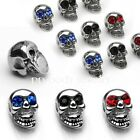 1pc. 14G~Casting Gemmed Eye Skull Replacement 316L Surgical Steel - Choose color