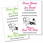 X-Large Personalised Funny Wedding Save The Date Fridge Magnets 10 Colours RG1