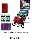 GEMZ Mini Hard Frame Wallet - Metro Stylish ID Wallet in Jewel Tone Colors NEW