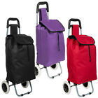 Folding wheeled lightweight shopping trolley grocery bag cart on wheels