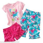 Carters Girls ~ PONY RIDES Pajamas Sleep Set PJs ~ 3 Piece ~ 18 months ~ NEW