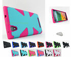 for ZTE ZMax Z970 Tmobile Dynamic Armor Hybrid Hard/Soft Case Cover+PryTool